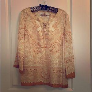 Robert Graham silk tunic